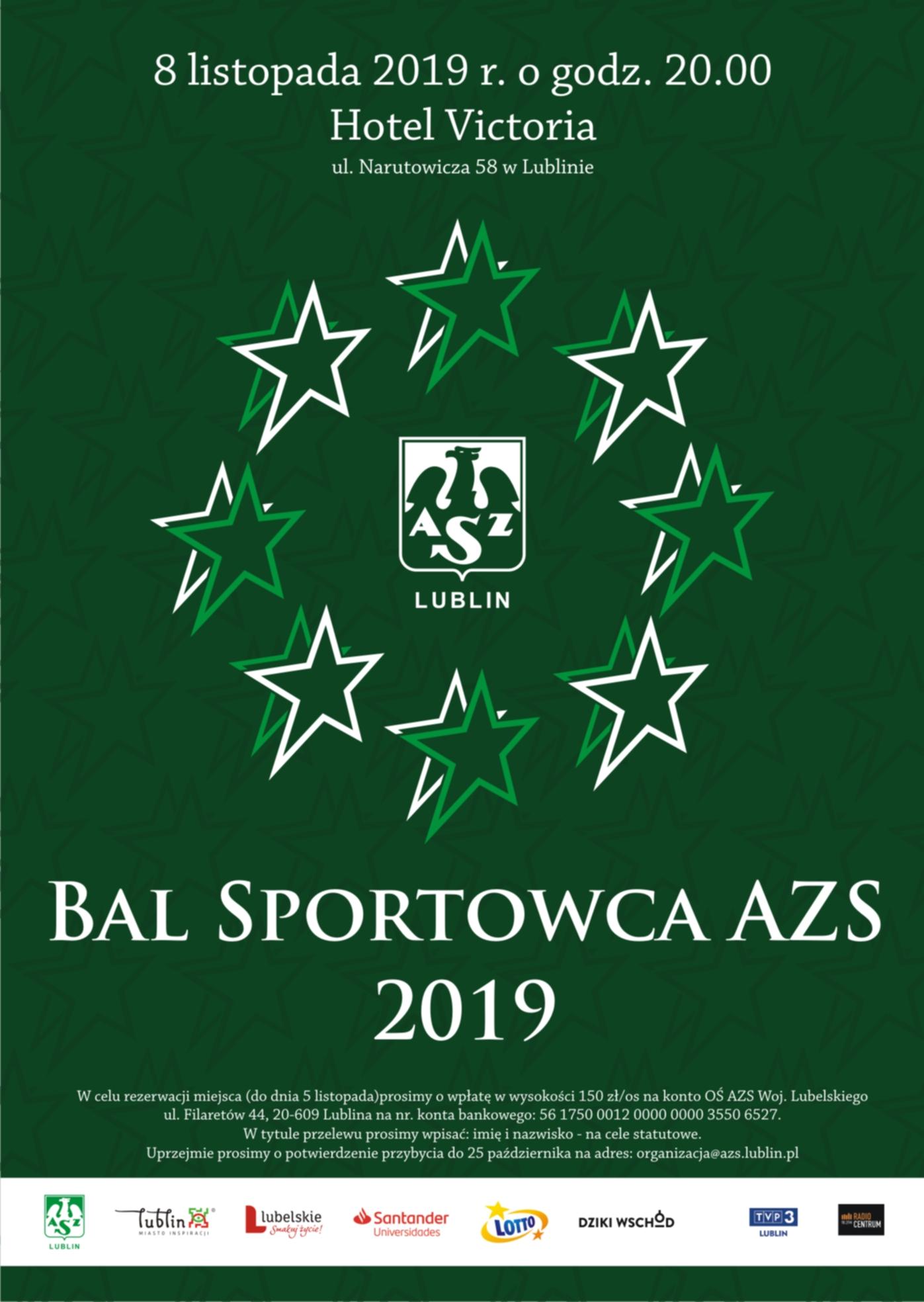 Plebiscyt na najlepszego sportowca AZS Lublin 2019 r.