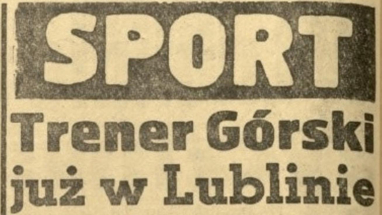 Kazimierz Górski. Trener WKS Lublinianka