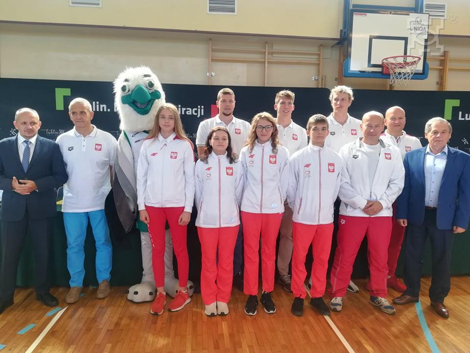 Spotkanie pływaków z uczniami Szkoły Podstawowej nr 5.