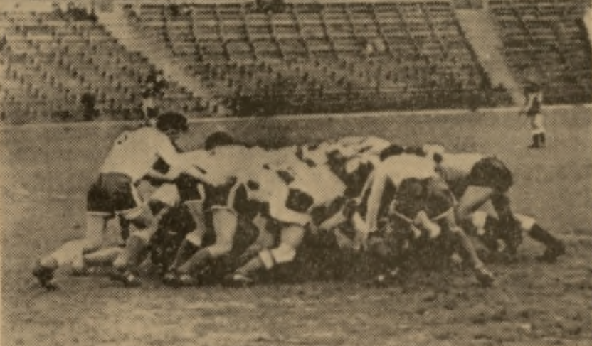 Lubelskie rugby w 1958 r: AZS Lublin - Partizan Belgrad