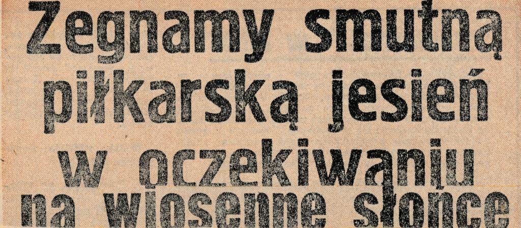 Nagłówek jednej z gazet lokalnej pracy z 1980 r.