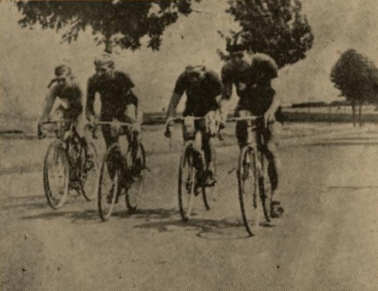 """Wyścig kolarski """"Szlakiem Wyzwolenia"""" 1958"""