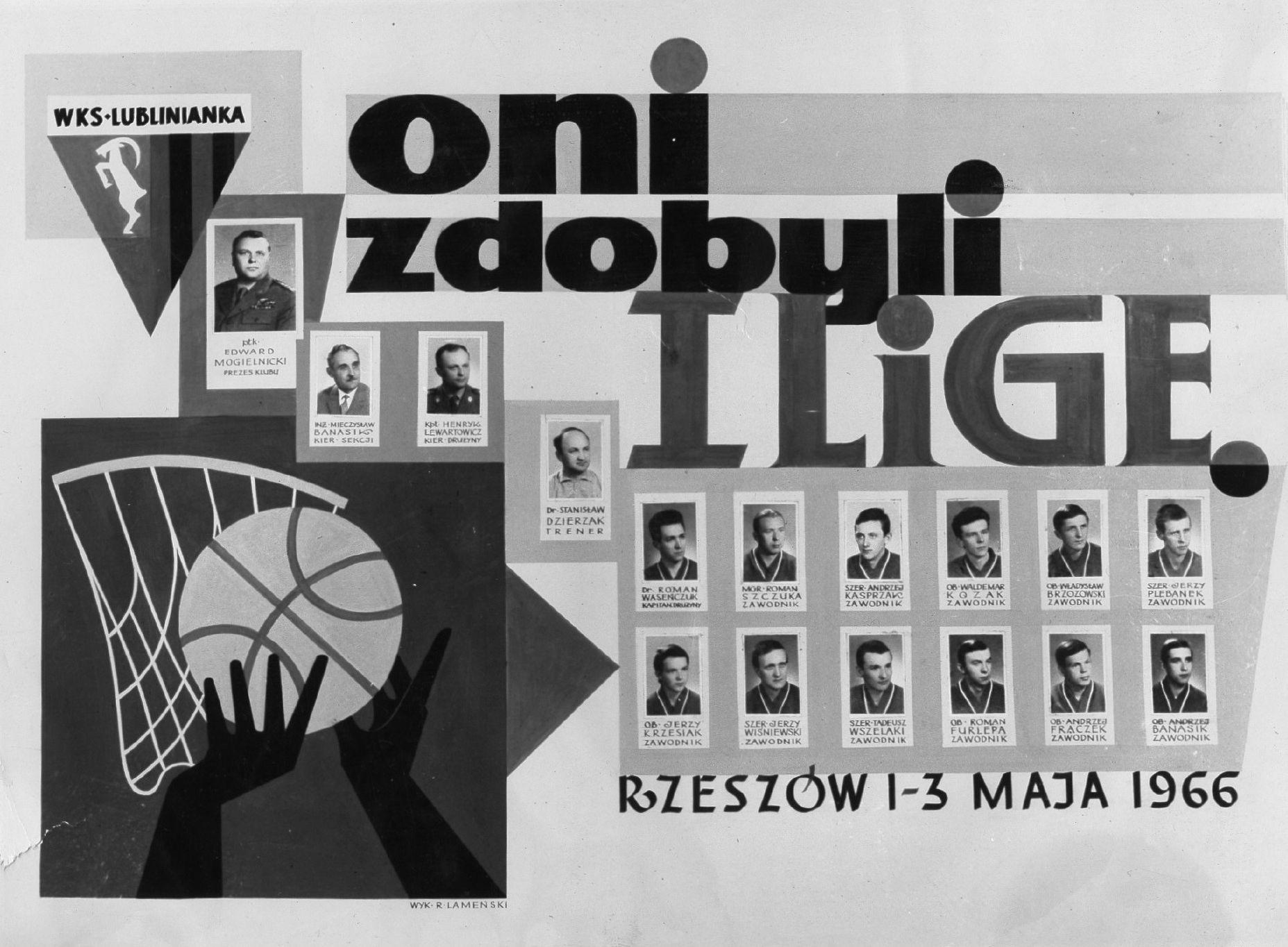 Krótki rys historyczny sekcji koszykówki w Klubie Sportowym Lublinianka