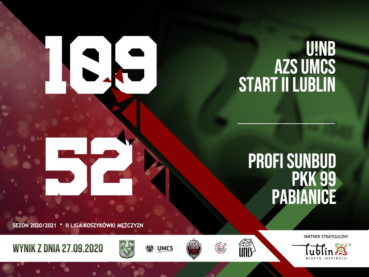 U!NB AZS UMCS Start II Lublin - Profi Sunbud PKK 99 Pabianice 109-52