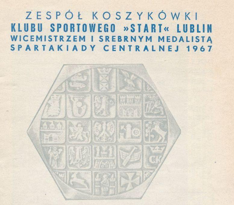 """Z archiwum Centrum Historii Sportu w Lublinie: """"XXXIV Mistrzostwa Polski męskich zespołów koszyków 1967-1968. Program I runda"""""""