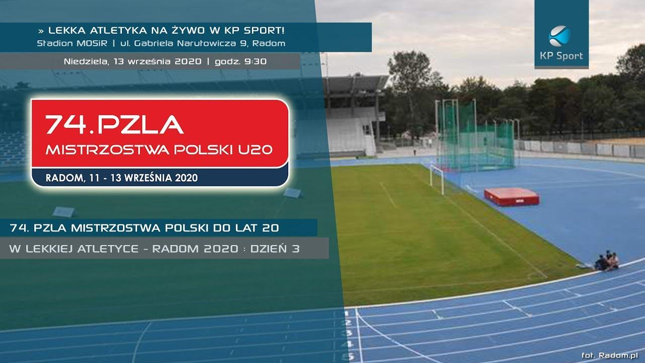 Pierwszy dzień 74. PZLA Mistrzostwa Polski U20