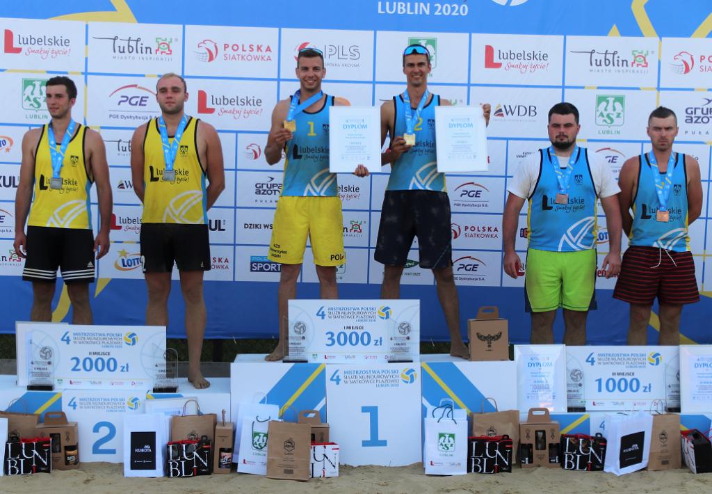 Mistrzowie świata triumfatorami IV Mistrzostw Polski Służb Mundurowych w Siatkówce Plażowej Lublin 2020