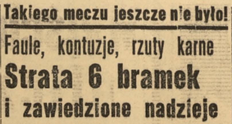 Mecz Wisła Kraków - Lublinianka 4.10.1964 r.