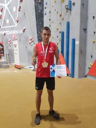 Jan Tkaczyk mistrzem Polski juniorów we wspinaczce na czas