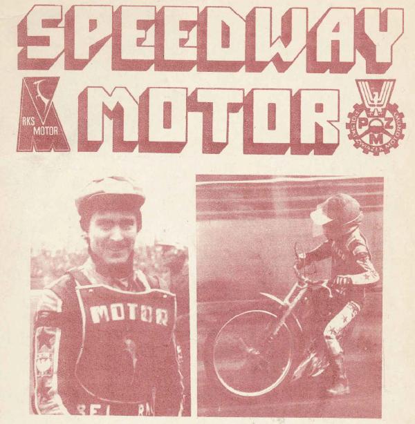 """Z archiwum Centrum Historii Sportu: """"Program żużlowy Motor Lublin - Sparta Wrocław. 2 maja 1982 r."""""""