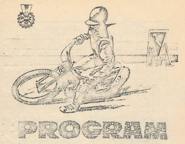 """Z archiwum Centrum Historii Sportu: """"Program Drużynowych Mistrzostw Polski na żużlu 1978"""""""