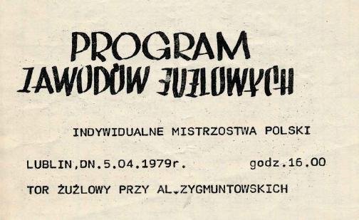 """Z archiwum Centrum Historii Sportu: """"Program Indywidualnych Mistrzostw Polski na żużlu"""""""
