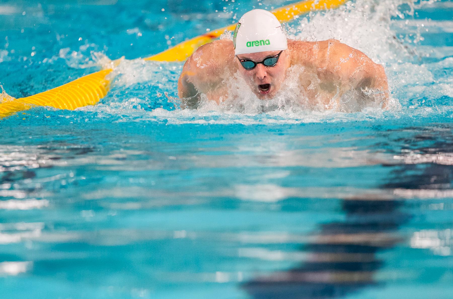 Konrad Czerniak zajął piąte miejsce na 50 m kraulem
