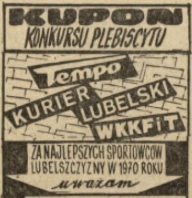 Nominowani w Plebiscycie na sportowca roku Lubelszczyzny za 1970 r.