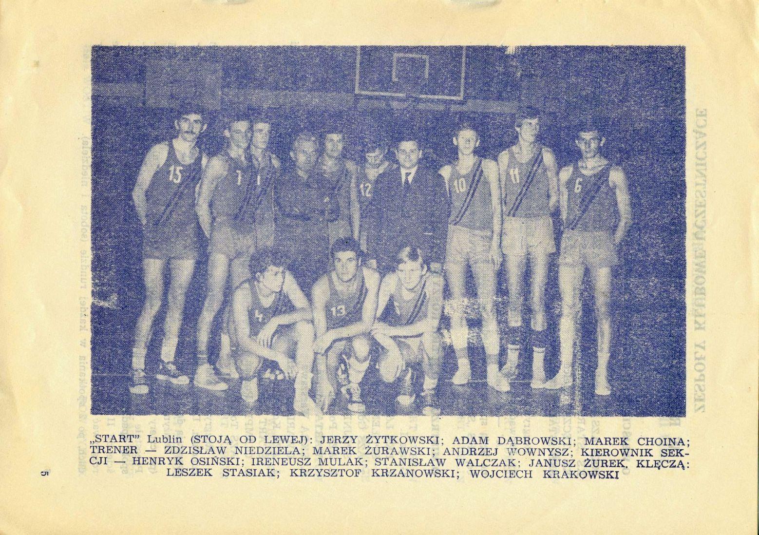 Z archiwum Centrum Historii Sportu: Program KS Start Lublin z sezonu 1972/1973