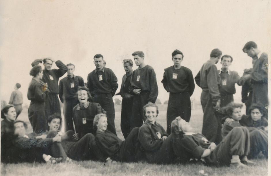 Pierwszy powojenny obóz Zarządu Głównego AZS - sierpień 1946 r.