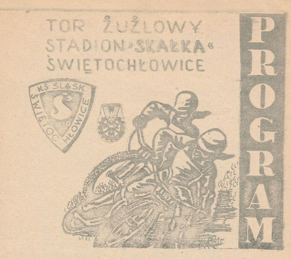 """Z archiwum Centrum Historii Sportu: program żużlowy """"Motor Lublin - Śląsk Świętochłowice. 5 października 1980 r."""""""