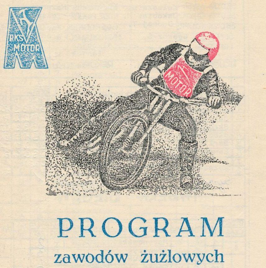"""Z archiwum Centrum Historii Sportu: program żużlowy """"Motor Lublin - Wybrzeże Gdańsk. 21 października 1979 r."""""""