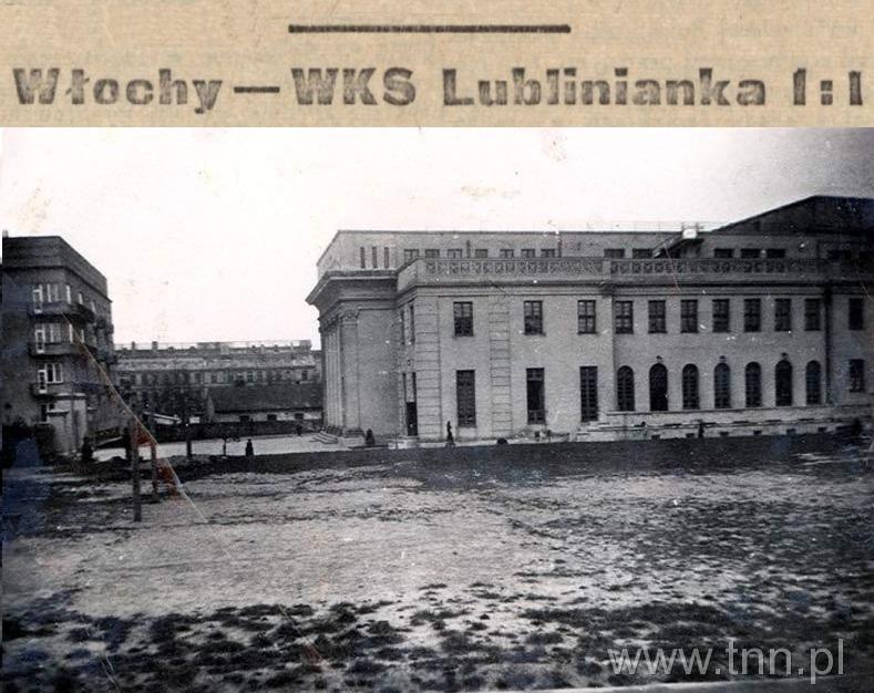 Mecz: włoscy jeńcy wojenni - WKS Lublinianka