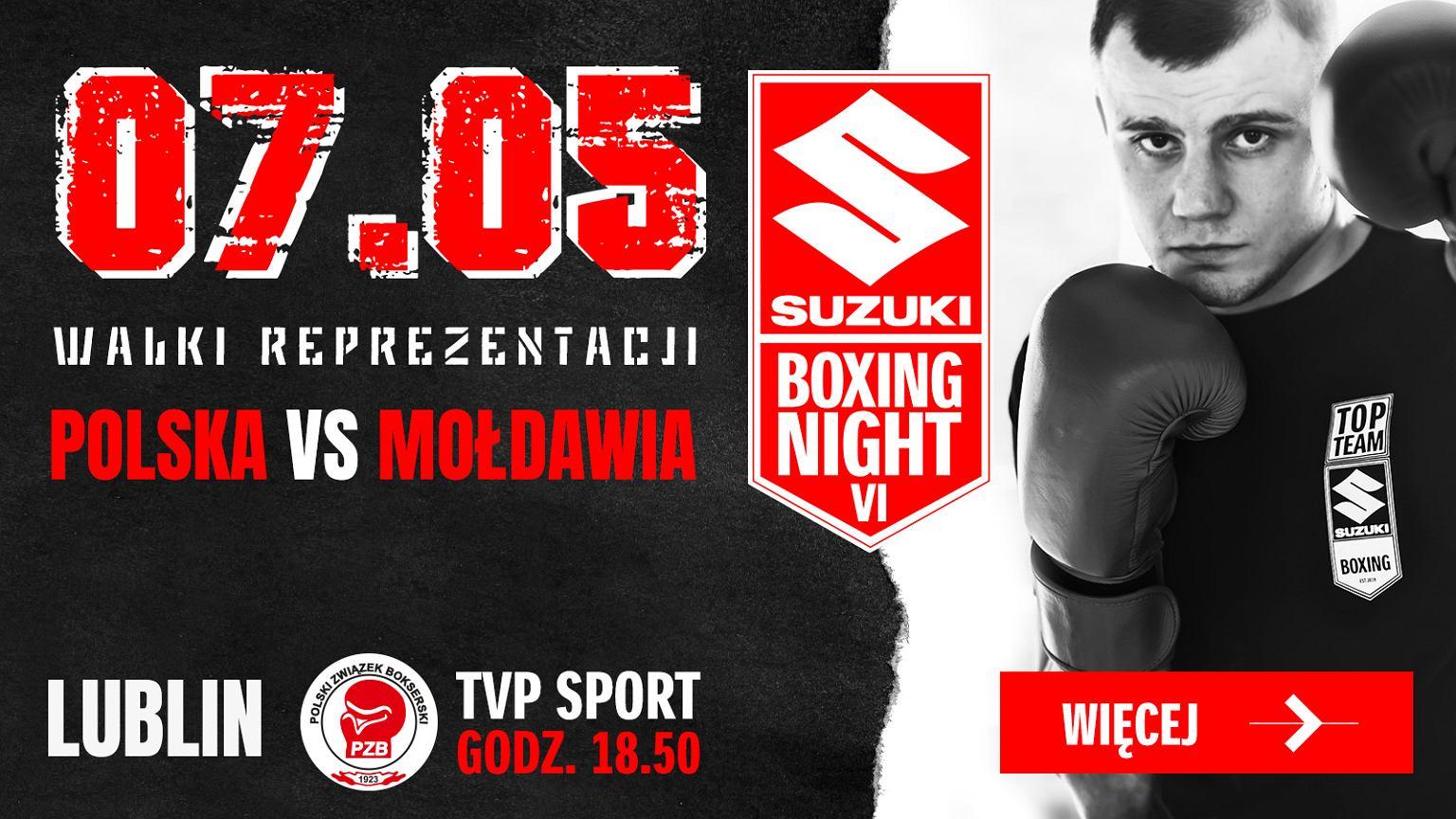 Polska zwycięża Mołdawię podczas Suzuki Boxing Night VI
