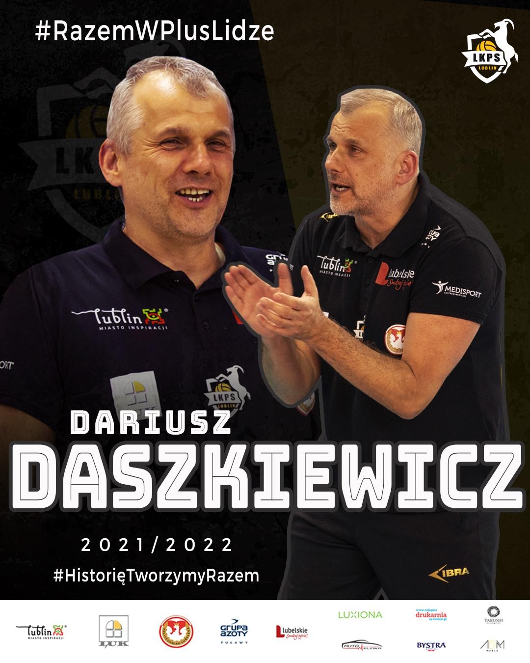 Trener Daszkiewicz na dłużej z LUK Politechnika Lublin