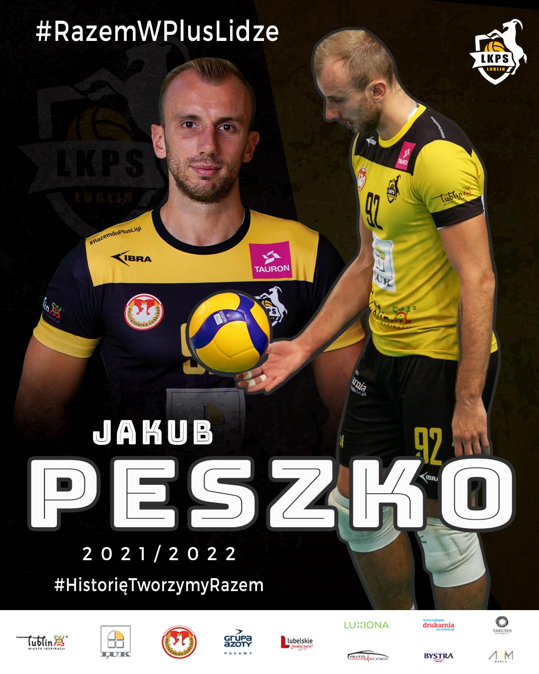 Jakub Peszko pozostaje w składzie LUK Politechniki Lublin