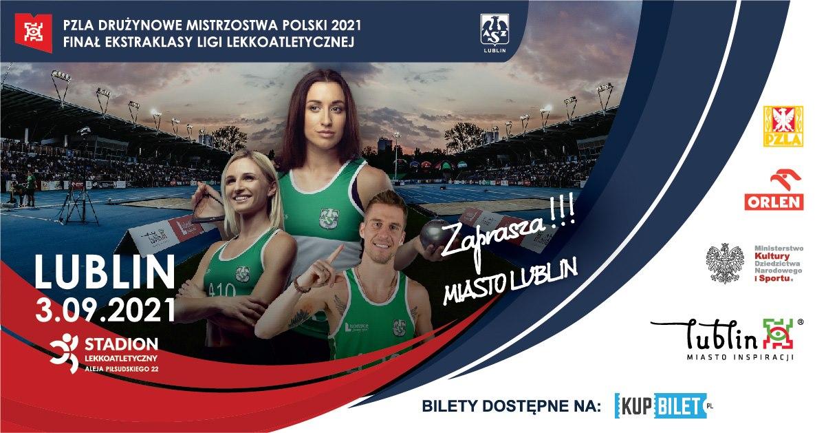 PZLA Drużynowe Mistrzostwa Polski - Lublin 2021 - zapowiedź