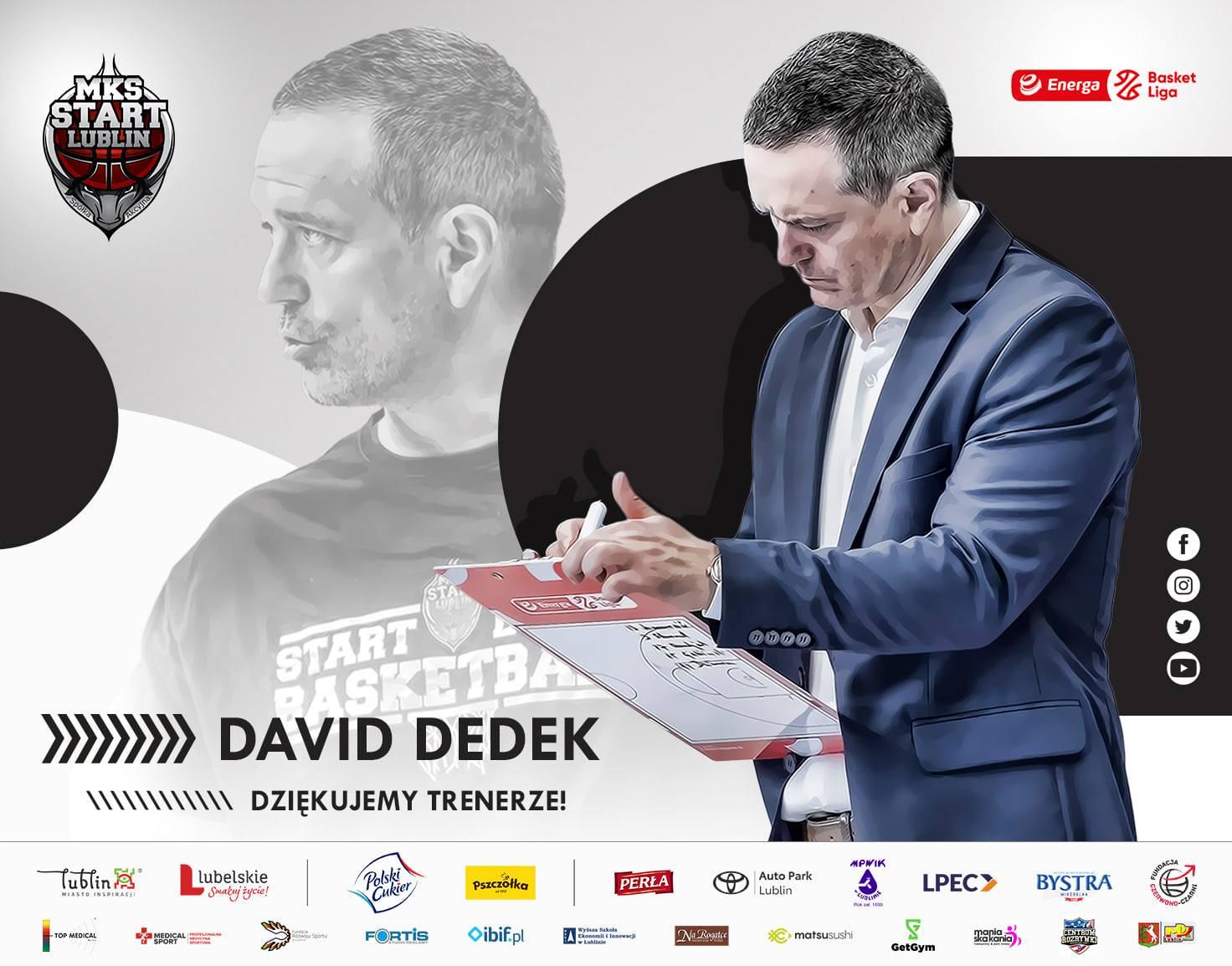 Trener Startu David Dedek zwolniony