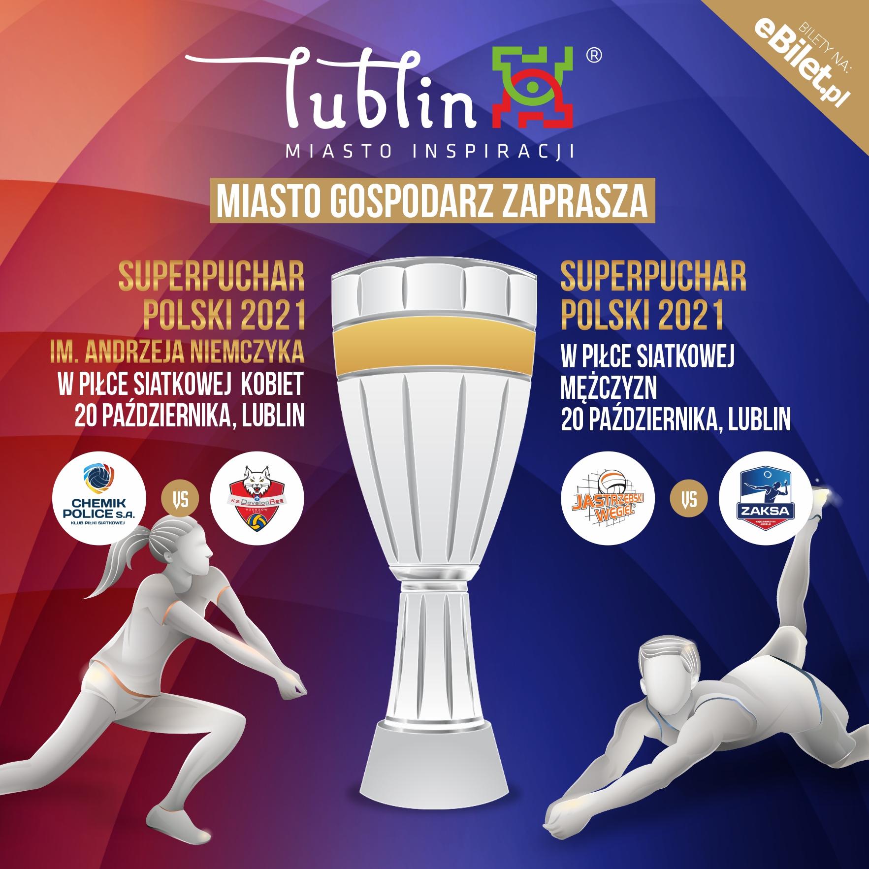 Oba siatkarskie Superpuchary Polski jednego dnia w Lublinie!